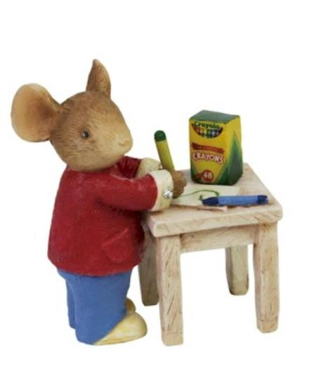 Mouse standing at table coloring picture figure LARGE