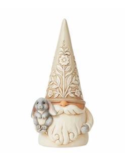 Woodland Gnome Holding Bunny
