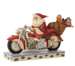 Santa Riding Motorcycle THUMBNAIL