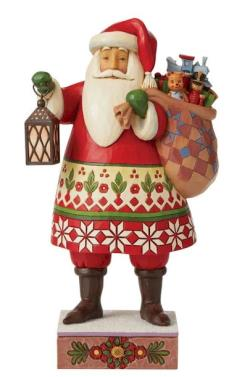 Santa with Lantern and Toy Bag THUMBNAIL