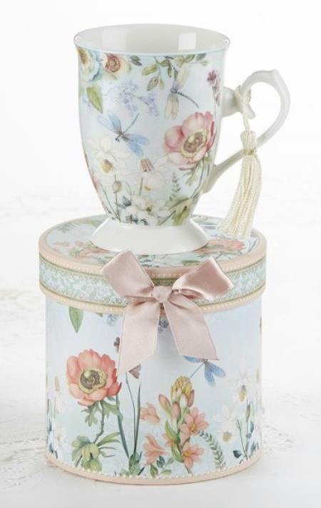 Dragonfly Porcelain Mug in Gift Box LARGE