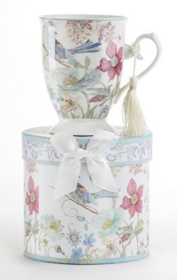 Partridge Porcelain Mug in Gift Box