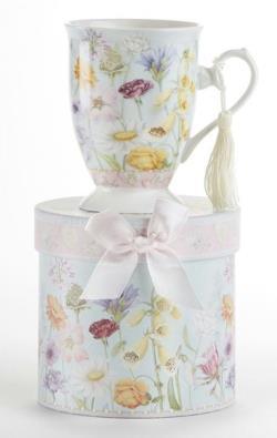Wildflower Porcelain Mug in Gift Box
