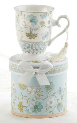 Blue Romance Porcelain Mug in Gift Box