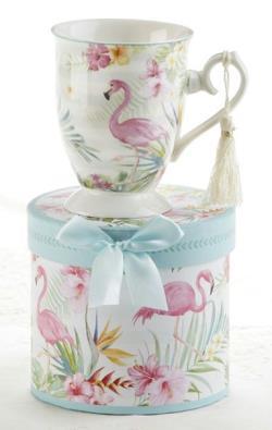 Flamingo Porcelain Mug in Gift Box