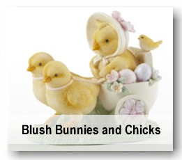 Resin Easter bunny and chick figures