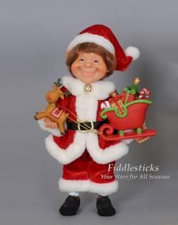 Santa with Sleigh Elf