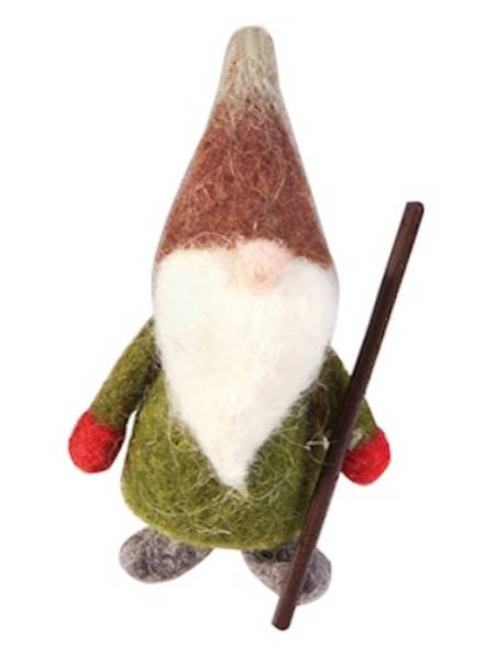 Wool Gnome Christmas figure LARGE