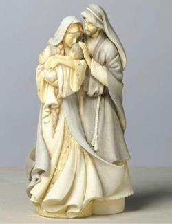 Jesus, Mary and Joseph Holy Family Collectible Figure. THUMBNAIL