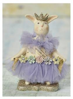 Rabbit Easter Figure with Purple Tutu THUMBNAIL