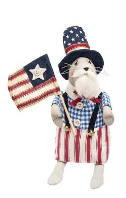 Patriotic Mouse figure