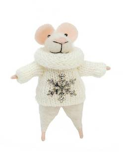 Mouse Figure with Snowflake Sweater