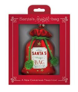 Santa's Gift Bag Glass Ornament THUMBNAIL