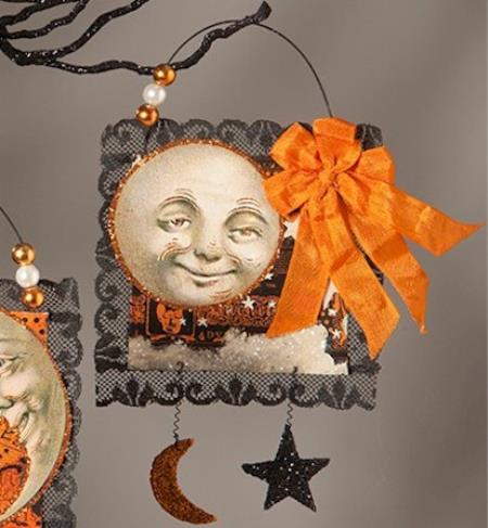 Full Moon Postcard Ornament LARGE