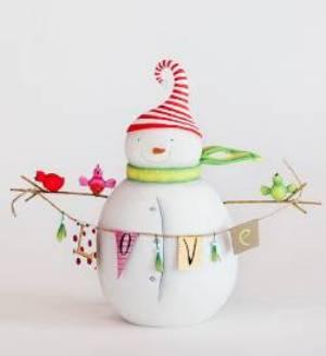 Love Snowman Figure