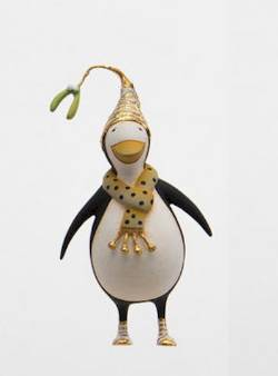Gold Penguin Ornament  THUMBNAIL