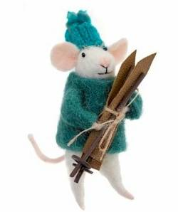 SKiing Mouse figure THUMBNAIL