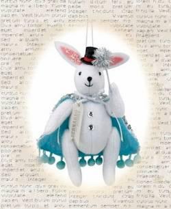 Bernardo the Bunny Magician Ornament