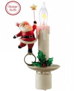 Flicker Candle Lamp with Santa Night Light