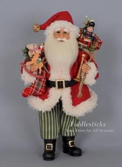 Vintage Evergreen Santa