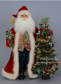 Santa with Lighted Tree