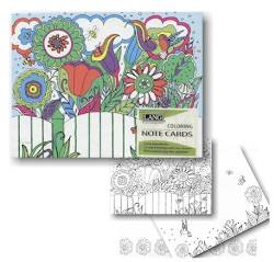 Garden of Color Coloring Boxed Note Cards