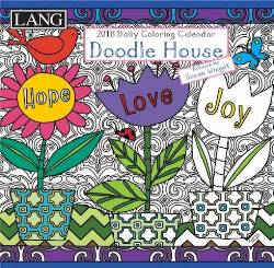 Doodle House™ 2018 Coloring Boxed Daily Calendar