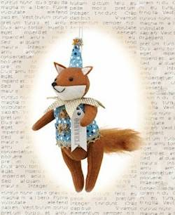 Fernando the Fox Harlequin Ornament