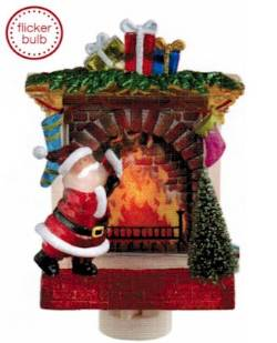Flicker Santa and Fireplace Night Light
