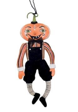 Gilbert Pumpkin Head Tin Ornament