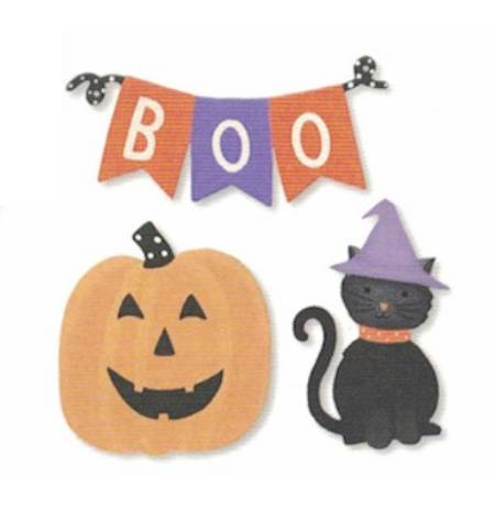 Halloween Boo Banner Magnets LARGE