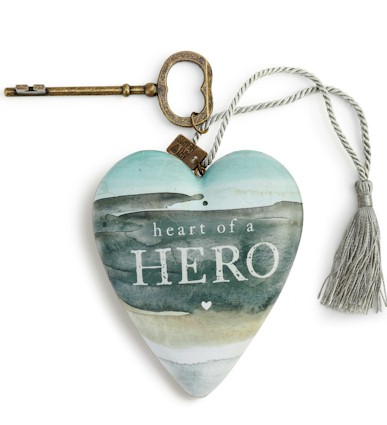 Heart of a Hero Art Heart LARGE