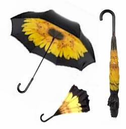 Yellow Sunflower Inverted Umbrella