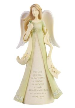 Irish Angel Figure with prayer and shamrock THUMBNAIL