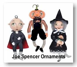 Joe Spencer Ornaments - Halloween