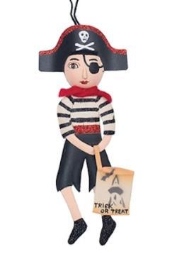 Jogger Pirate Tin Ornament