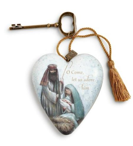 Holy Family Decorative Art Heart LARGE