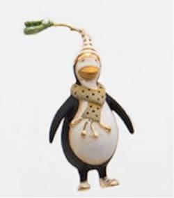 Mini Gold Penguin Ornament