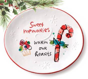 Sweet Memories Oval Plate THUMBNAIL