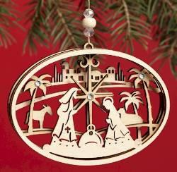 Nativity Oval Ornament