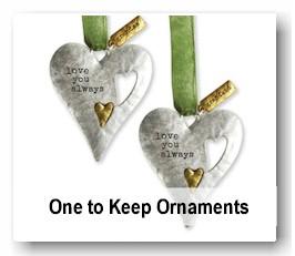 Special keepsake sharing Christmas ornaments
