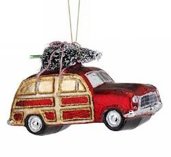 Station Wagon Glass Ornament THUMBNAIL