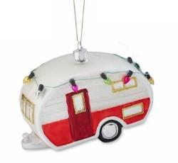 Trailer Glass Ornament