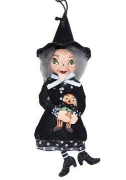 Rosalea Witch with Pumpkin Tin Ornament
