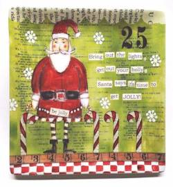 Santa with Candy Canes Plate THUMBNAIL