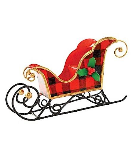 Buffalo Check Sleigh Ornament LARGE