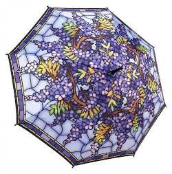 Stained Glass Wisteria Umbrella