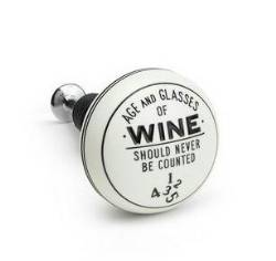 Age and Glasses Wine Bottle Stopper