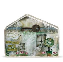 House figure with key, trees and flowers THUMBNAIL