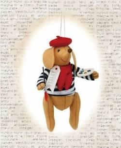 Wesley the Wiener-Dog Parisian Ornament